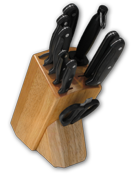 Knife Block with Full Tang POM Ergo Plus� Series Knives