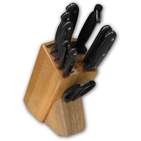 Knife Block with Full Tang POM Ergo Plus™ Series Knives