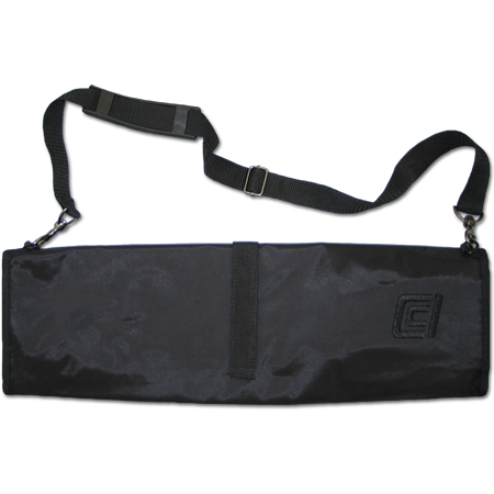 7-Pocket Lockable Knife Roll with Zipper and Strap