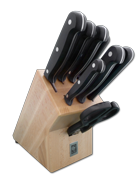 Knife Block with Full Tang POM Technik Series Knives
