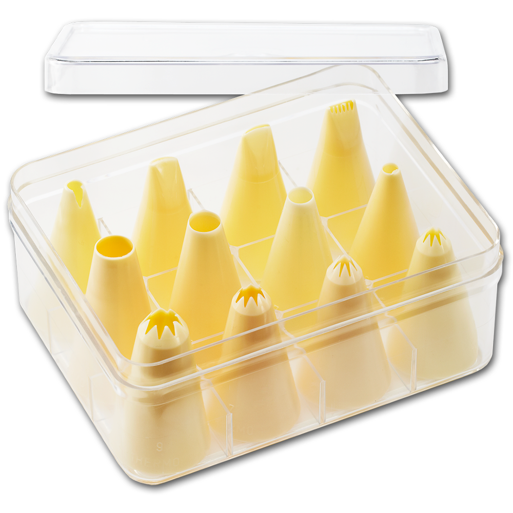 Large Piping Tip Set-Poly, 12 Pieces (smaller tips)